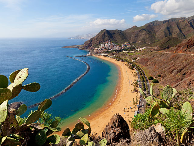 View of Las Teresitas Beach in Tenerife