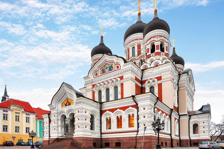 Alexander Nevsky Cathedral in Tallinn Old Town