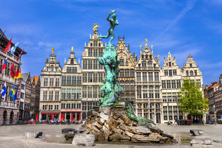 Traditional Flemish architecture in Belgium, Antwerp