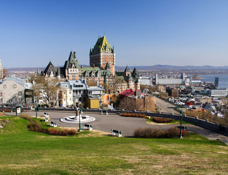 Cityscape of Quebec City with Chateau Frontenac, Canada