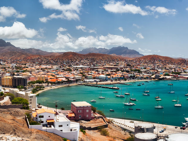 Cape Verde Islands on a sunny day