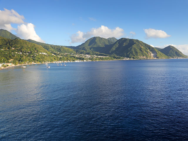 Beautiful views of Roseau, Dominica