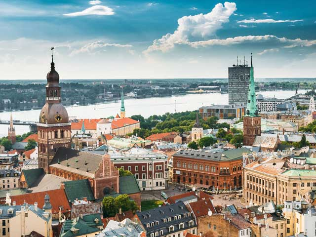 Beatiful Latvian cityscape