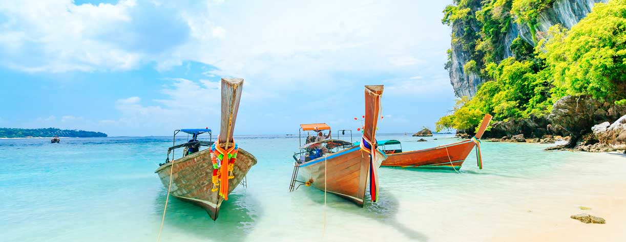 Boats on the beach in Phuket, Thailand