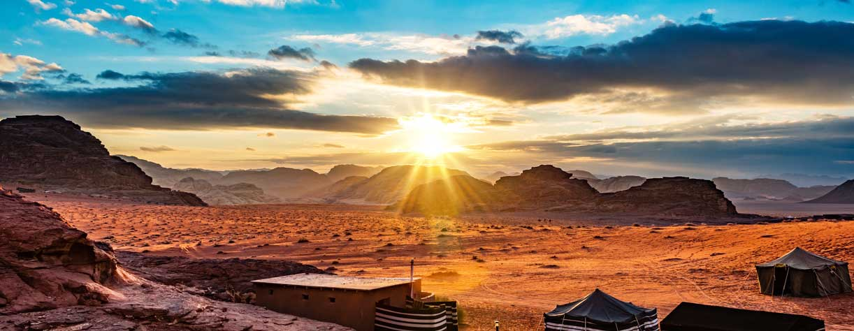 Sunset over Wadi Rum, Aqaba - Jordan