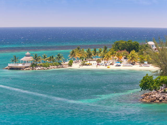 The lovely tropical island of Ocho Rios Jamaica in the Caribbean