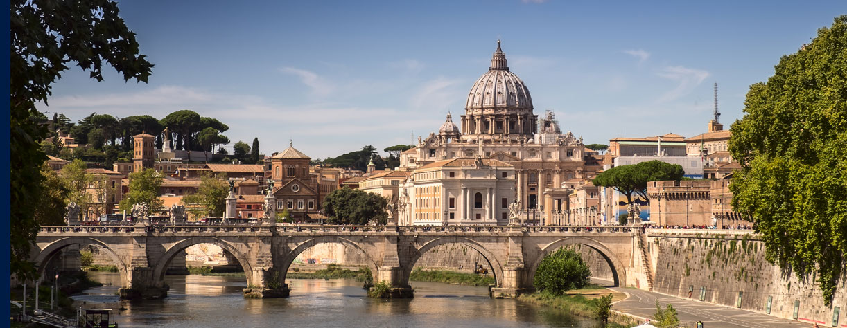 Sant'Angelo bridge and San Pietro (Saint Peter basilica)