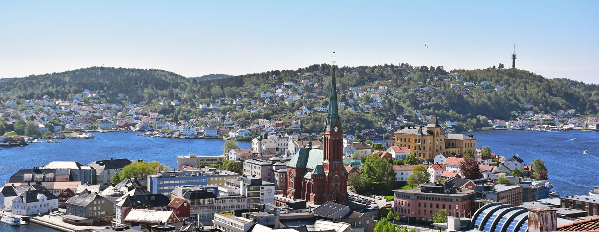 View over Arendal city, Norway