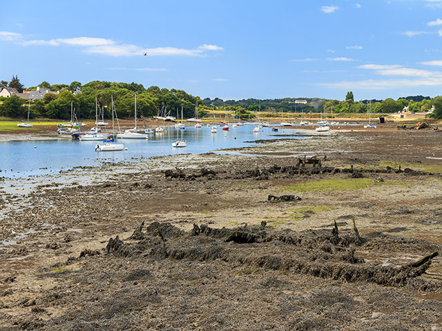 Low tide at Lorient harbour, Brittany