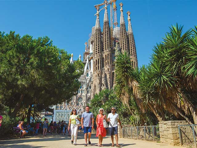 Visiting the Sagrada Familia, Barcelona, Spain