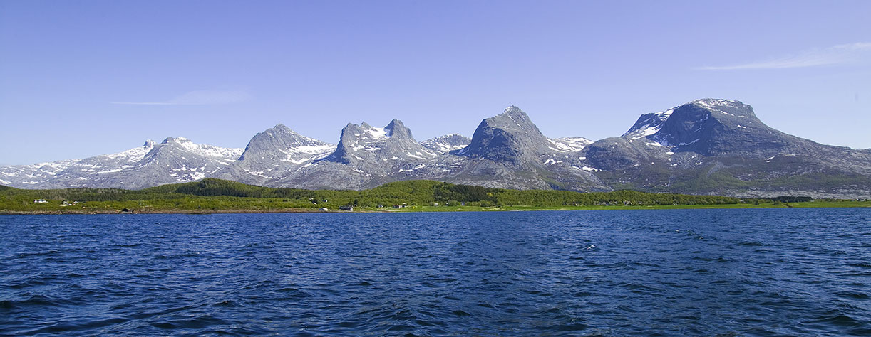 Seven sisters mountain range, Norway