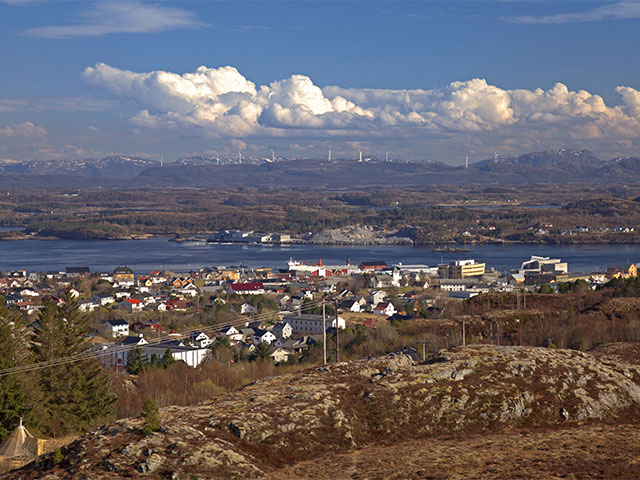 Pretty village of Rorvik, Norway
