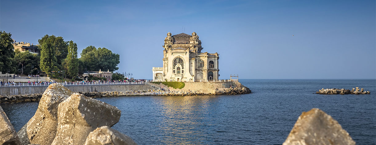 View of old casino from Constanta, Romania