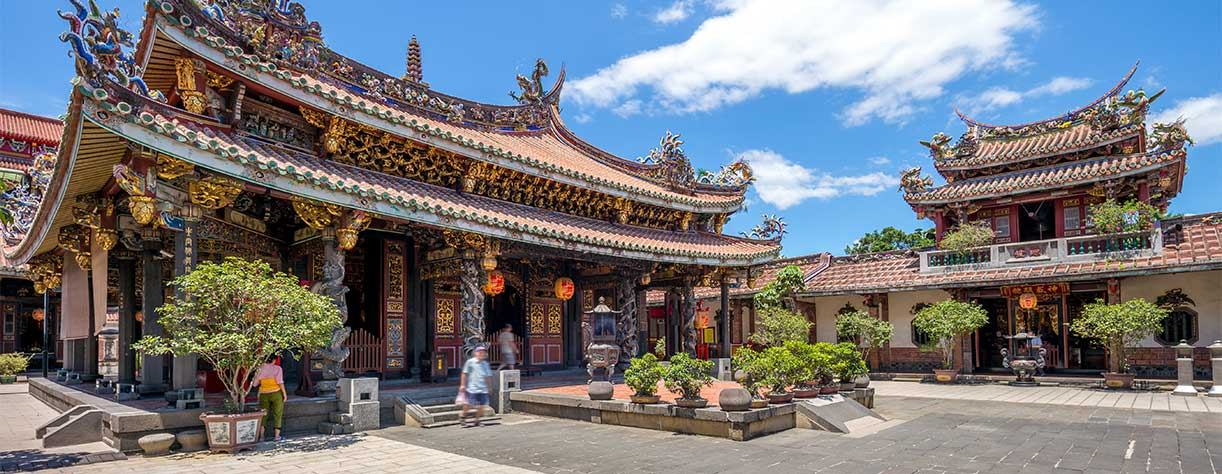Baoan temple in Taipei, Taiwan