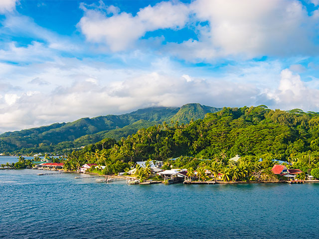 Panoramic landscape of Raiatea, Society Islands