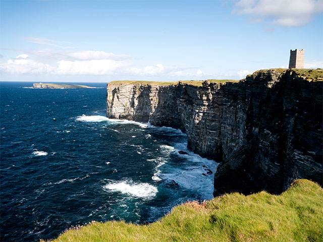 Marwick Head and the Kitchener Memorial, Orkney, Scotland, UK