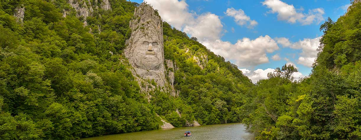 The rock sculpture of Decebalus