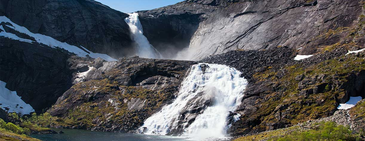 Sotefossen waterfall, Hardangervidda National Park, Norway