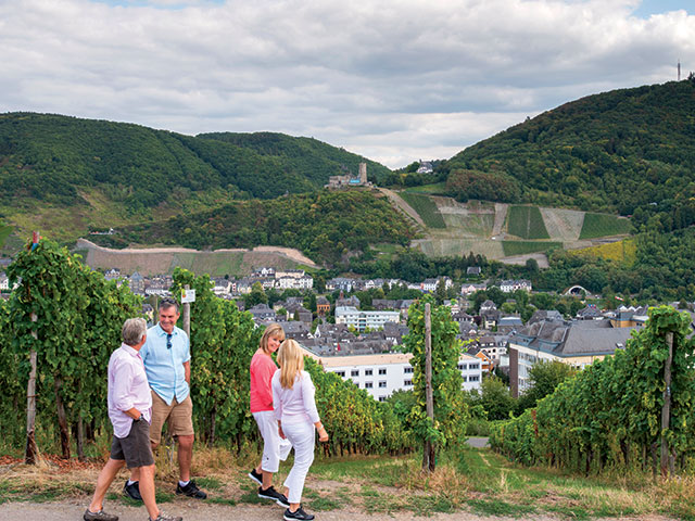 Guests on a wine tour in Bernkastel-Kues, Germany