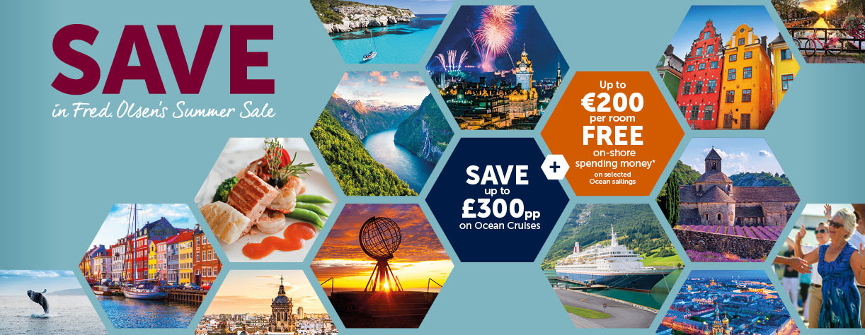 Various destination images from Summer Sale brochure