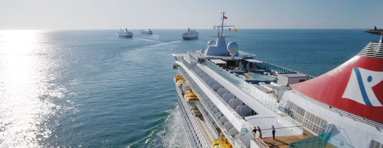 Our four ships in Cadiz, Spain