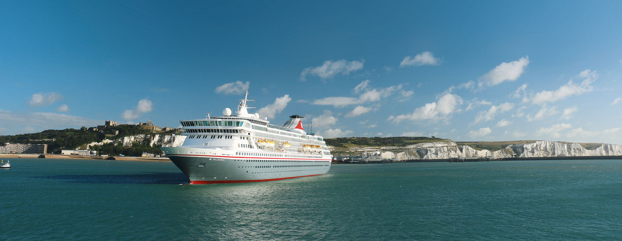 Balmoral in Dover with the white cliffs, UK