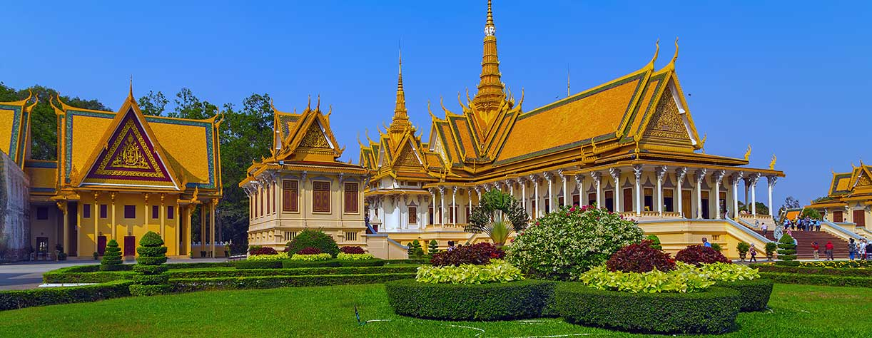 Golden temple Royal Palace, Phnom Penh, Cambodia