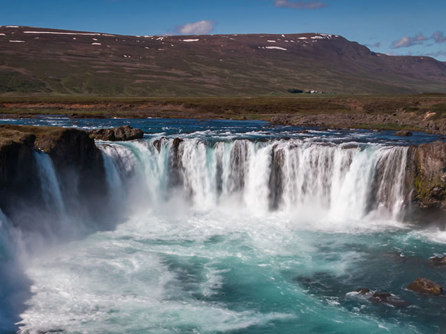 The beautiful Gullfoss waterfall, Iceland