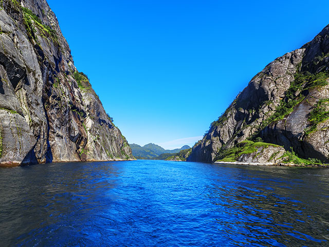 The amazingly narrow Trollfjord in Norway