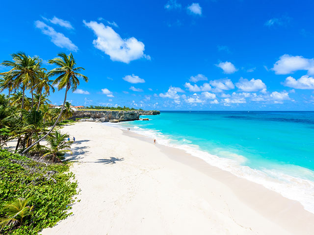 Paradise beach in Bridgetown, Barbados