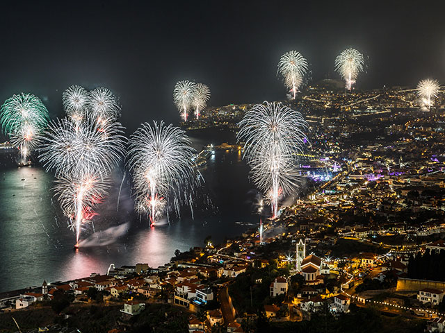 Fireworks over Funchal, Madeira