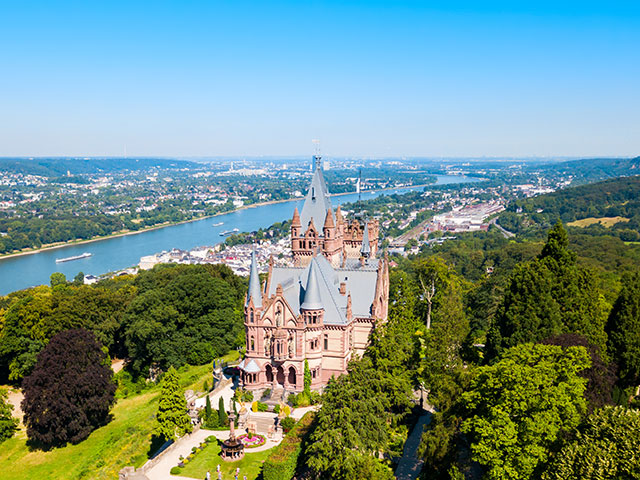 Schloss Drachenburg Castle in Konigswinter on the Rhine river, Germany