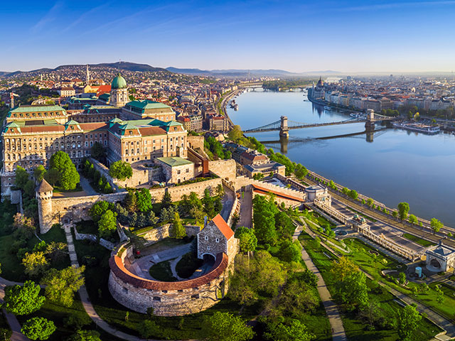 Ariel view of Budapest, Hungary