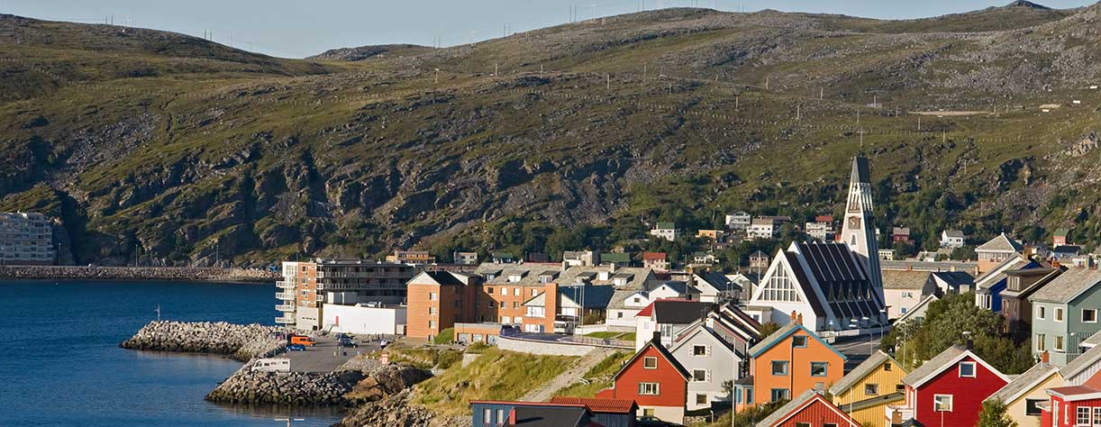View of Hammerfest, norway