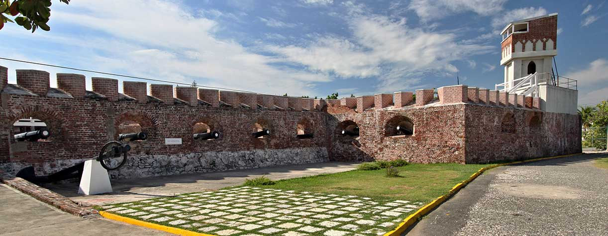 View of Fort Charles Fortress in Port Royal , Jamaica