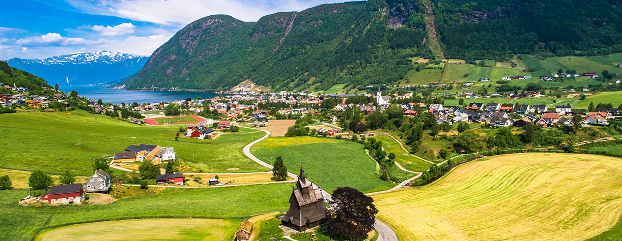 View of the Village of Vik, Norway