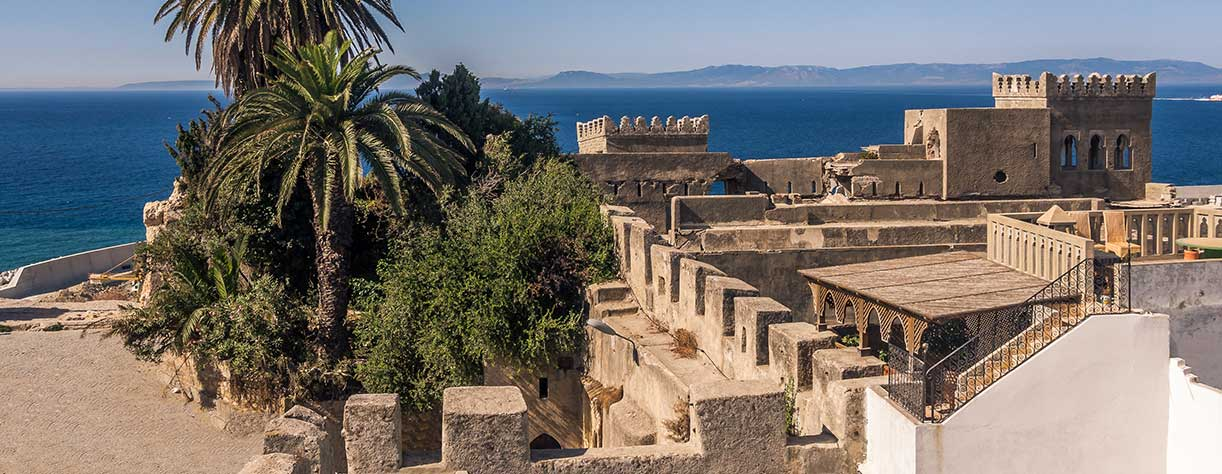 Old Medina of Tangier , Morocco, facing the Strait of Gibraltar