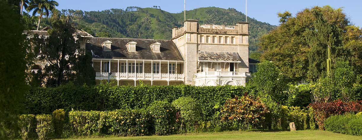 Presidential palace in the Port of Spain, Trinidad