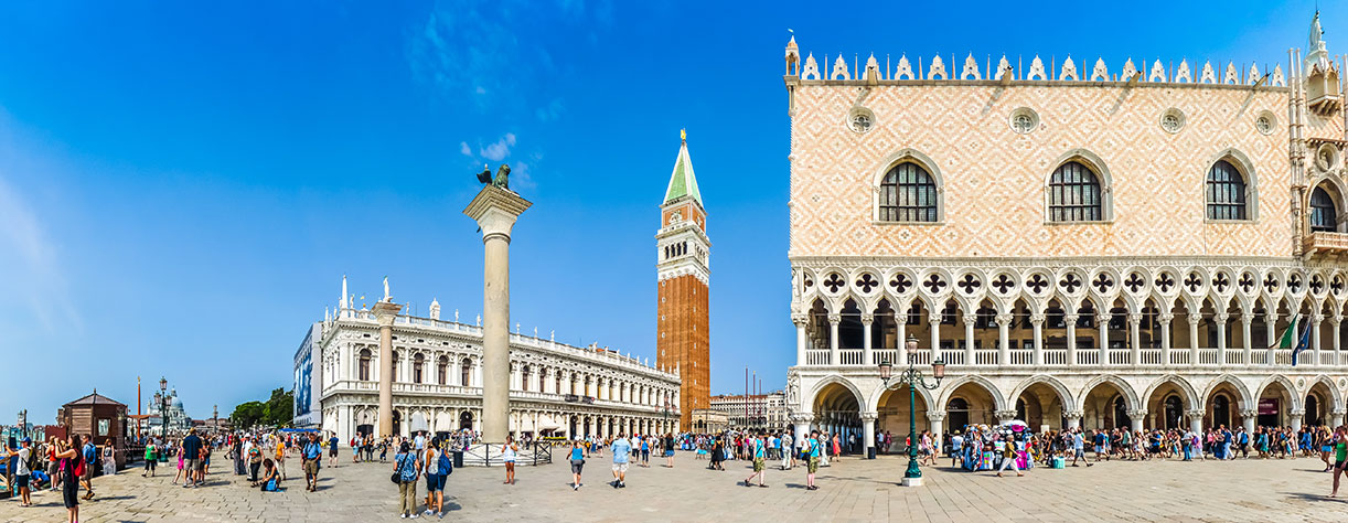 Piazzetta San Marco with Doge's Palace and famous St Mark's square, Venice, Italy