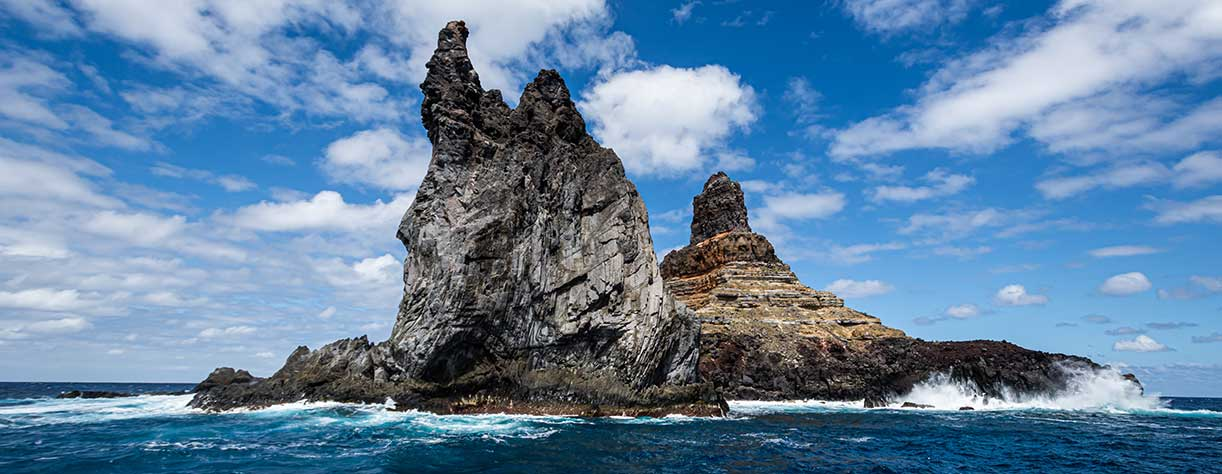 Landscape of Roca  Monumento at the Revillagigedo archipelago, Clarion island