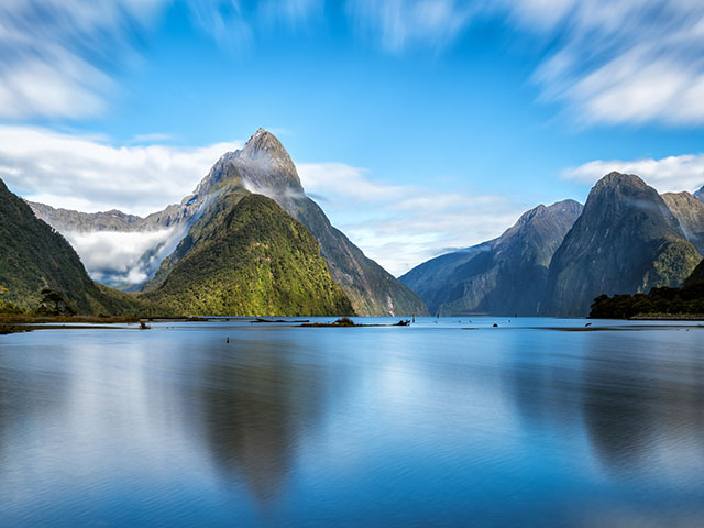 Beautiful views of Milford Sound, New Zealand