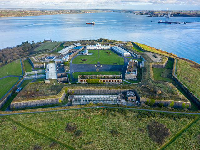 Ariel view of Spike Island, Ireland