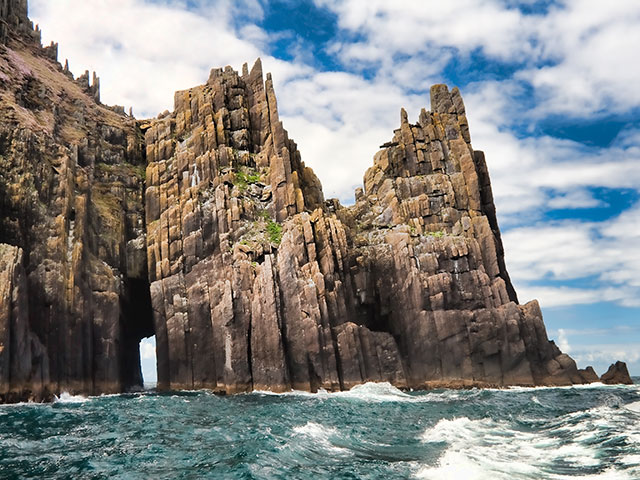Cathedral rock formation in Ireland