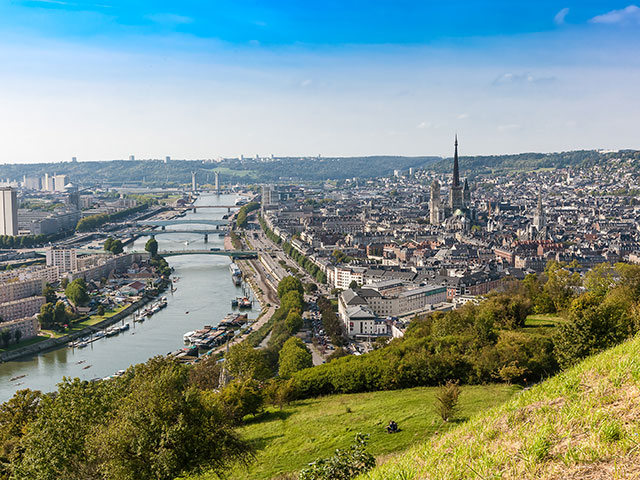 The River Seine in Rouen, France