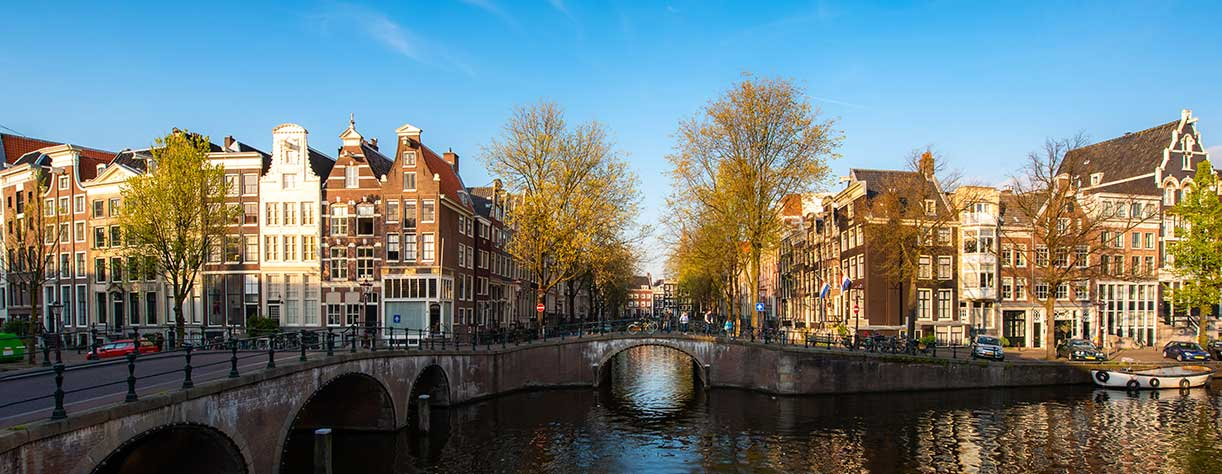 Canals of Amsterdam in Netherlands