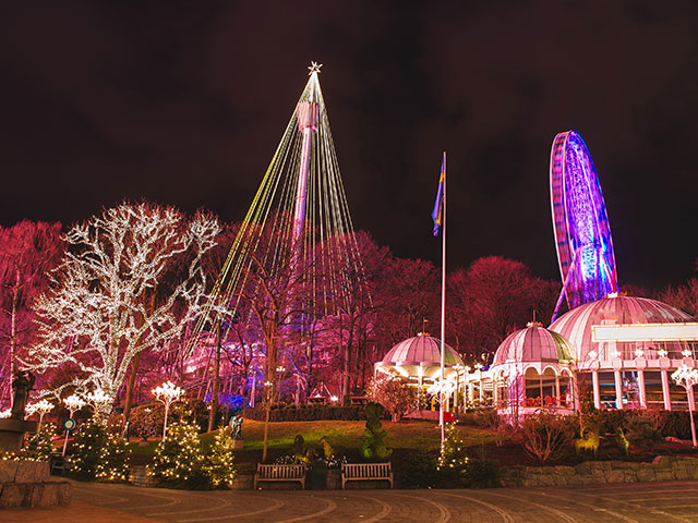 Christmas lights in Amusement Park Liseberg, Gothenbur, Sweden