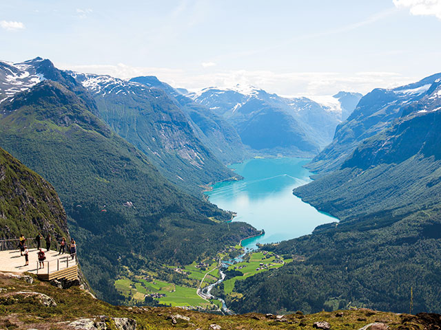 View from Loen Skylift, Mount Hoven, Norway, Lovatnet