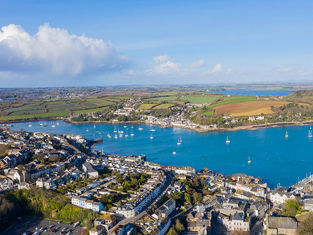 Falmouth harbour, Cornwall, UK